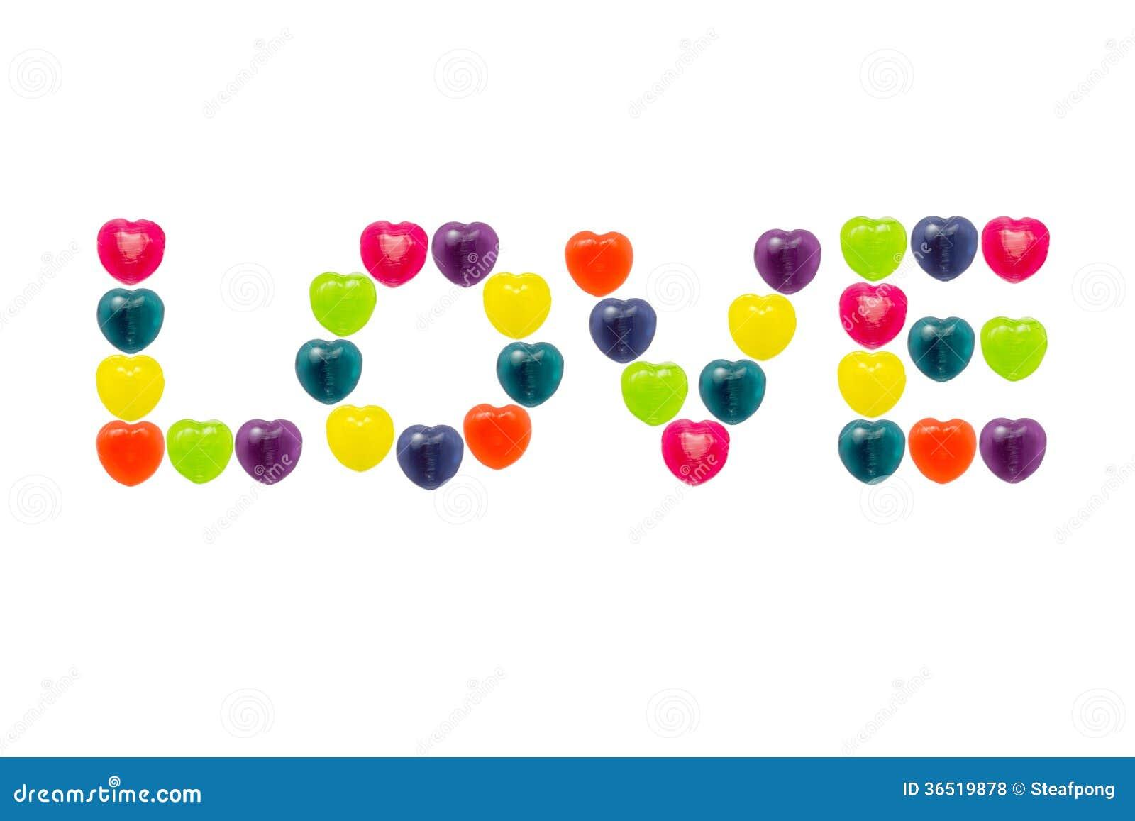 Sucrerie de coeur réglée dans la forme d amour pour Valentine