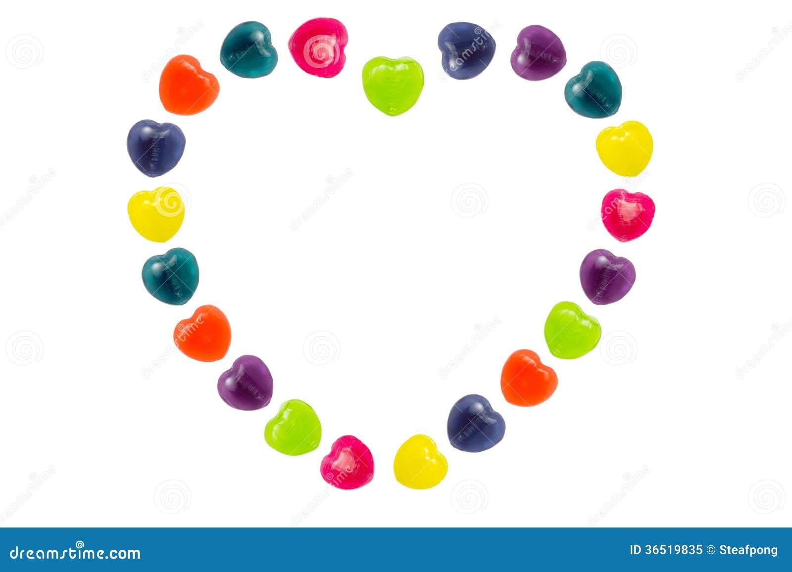 Sucrerie de coeur réglée dans la forme de coeur pour Valentine