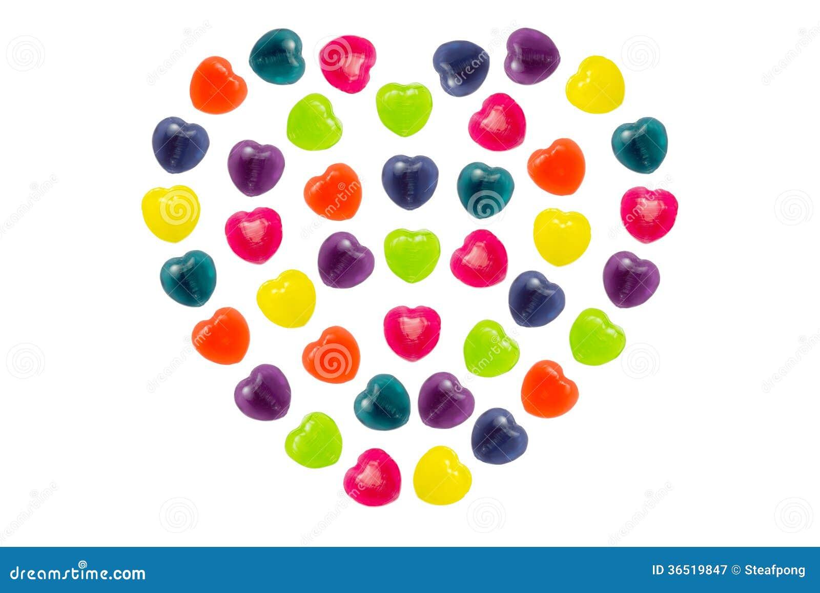 Sucrerie de coeur réglée dans la pleine forme de coeur pour Valentine