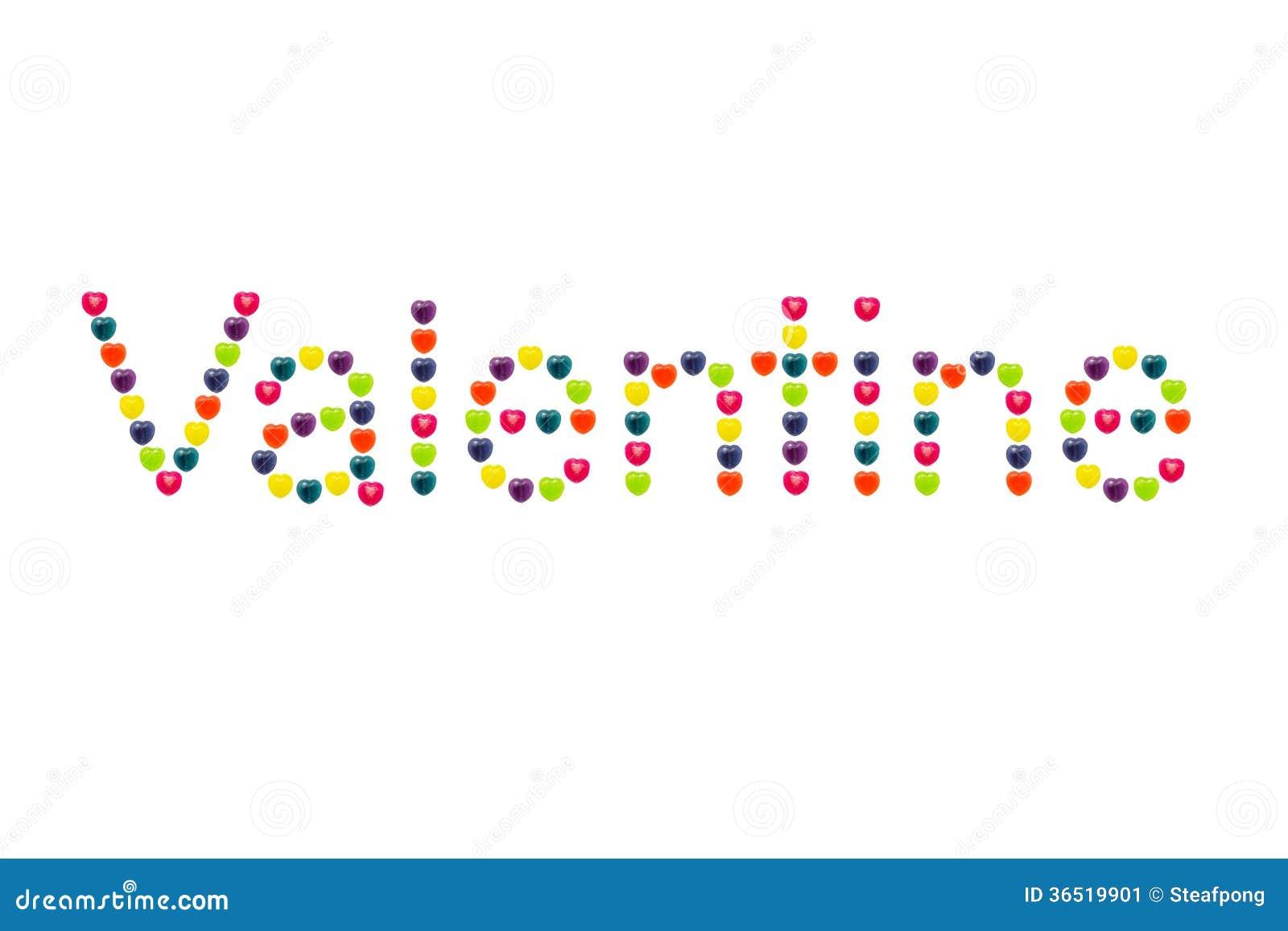 Sucrerie de coeur réglée en Valentine Shape pour Valentine