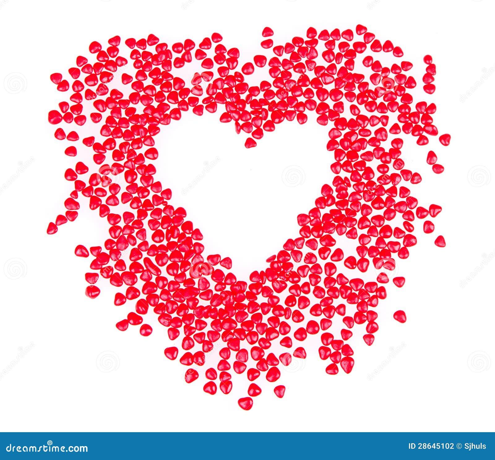 Sucrerie en forme de coeur dans la forme du coeur