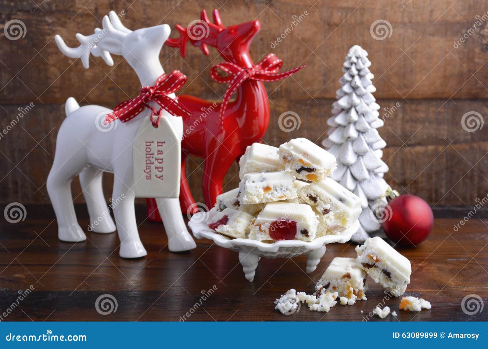 Download Sucrerie Traditionnelle De Noël Blanc Image stock - Image du tentation, noel: 63089899