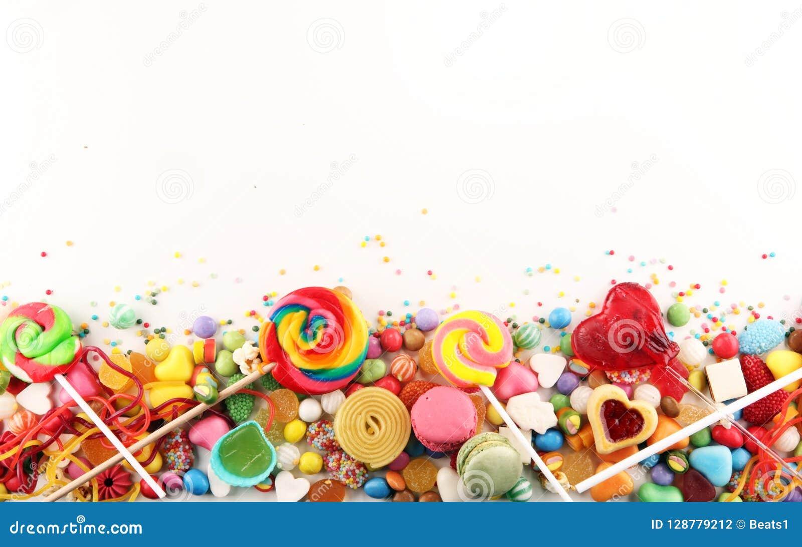 Sucreries avec la gelée et le sucre choix coloré de différents childs