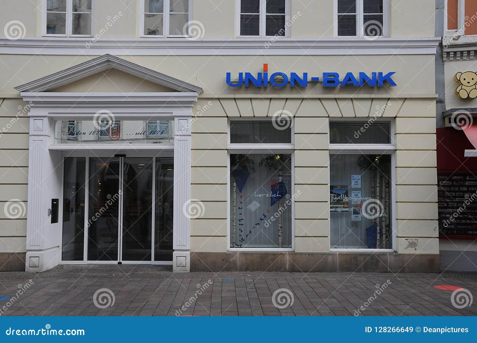 Sucursal bancaria de la unión en Flensburg Alemania
