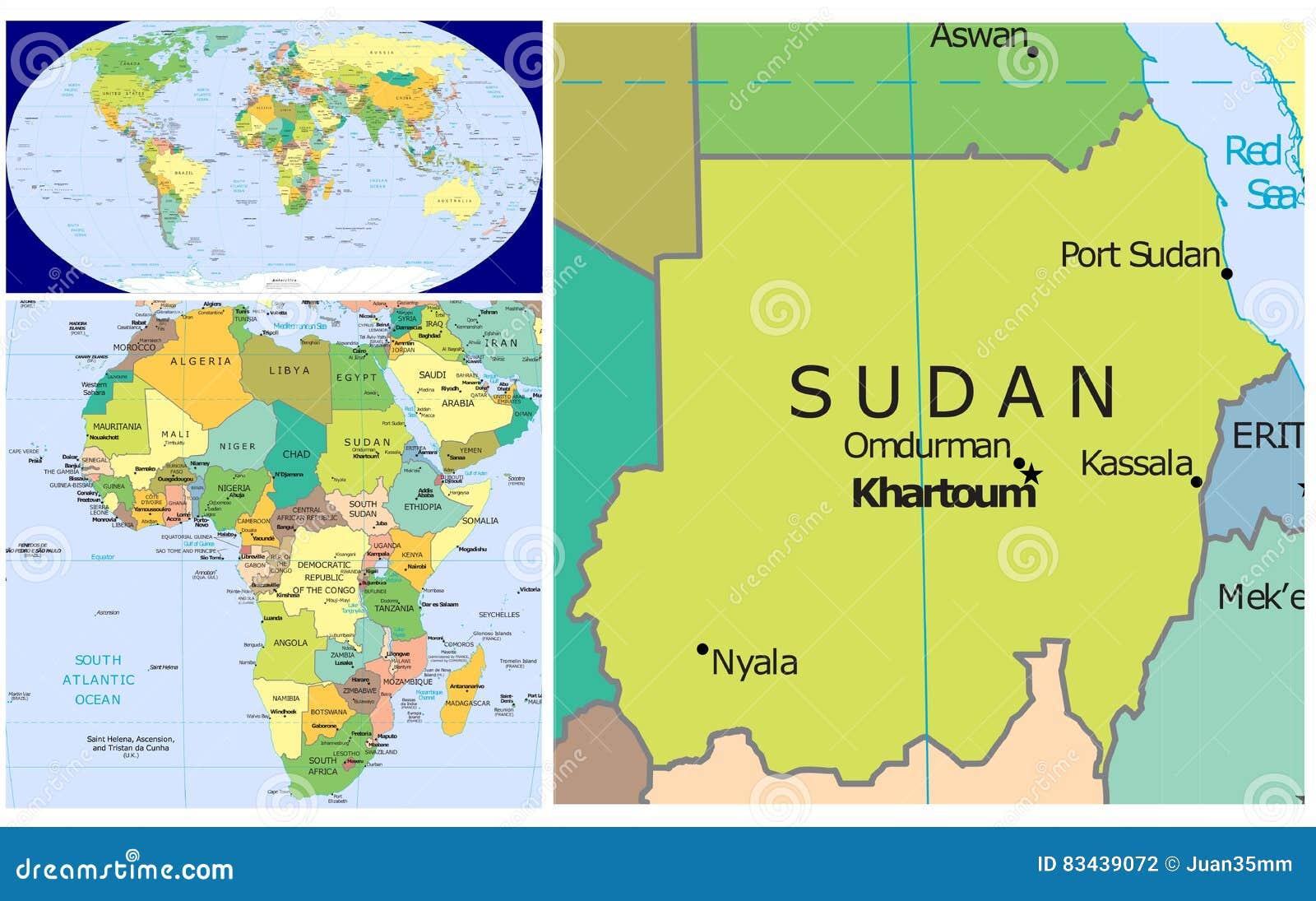 Sudan World Stock Illustration Illustration Of Asia 83439072