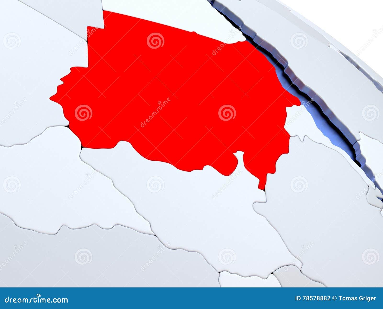 Sudan On World Map Stock Illustration Illustration Of Region 78578882