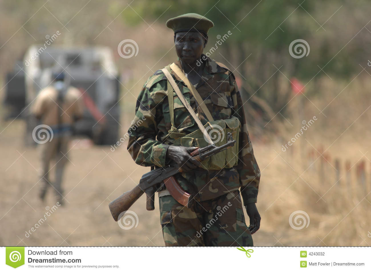 Sudanese Soldier 2 Editorial Photography Image Of Automatic