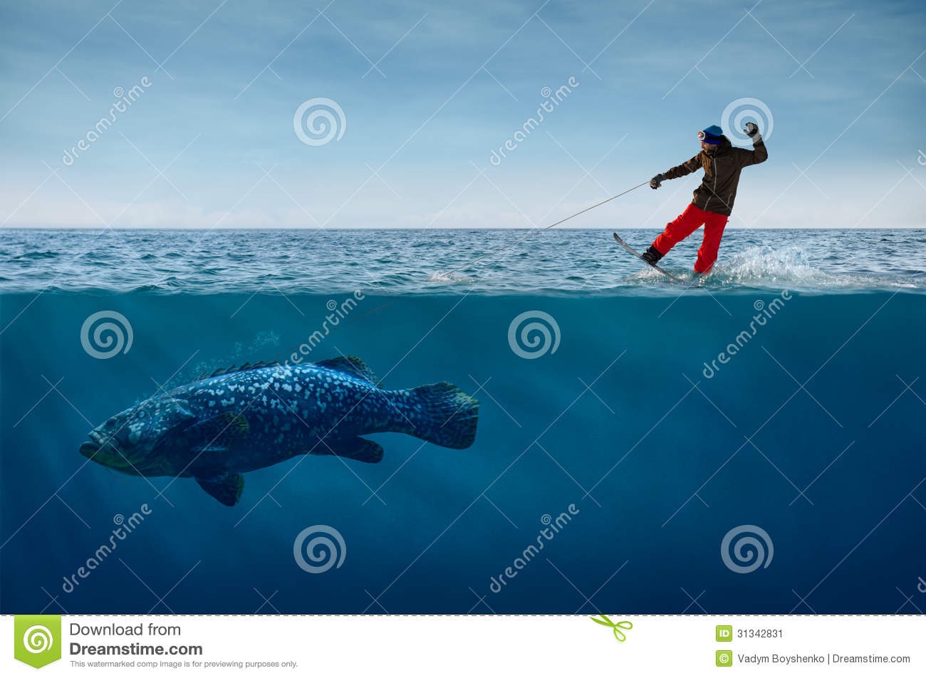 Suddenly spring has come stock image image 31342831 for Fish on a leash