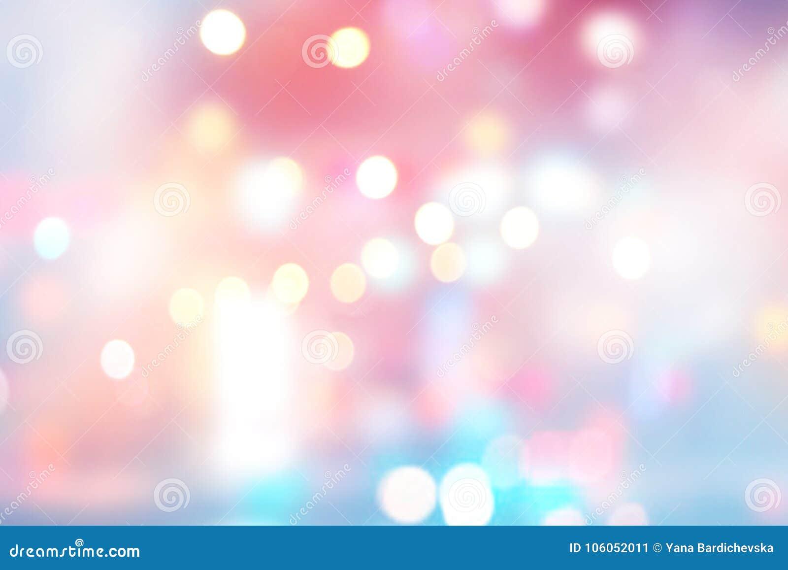Suddig bakgrund för ljus ferie festlig bakgrund