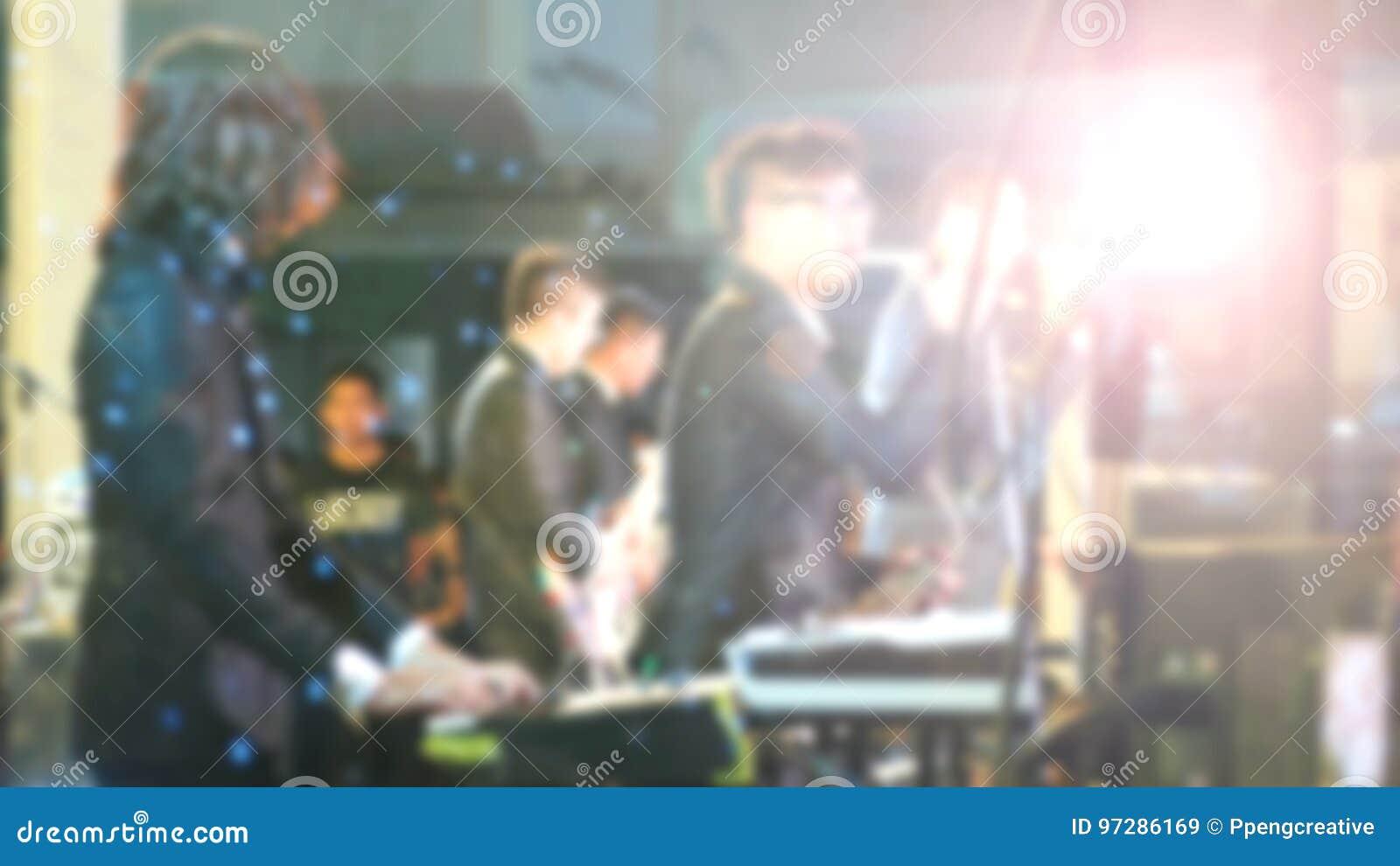Suddig konsert för levande show för musikmusikband