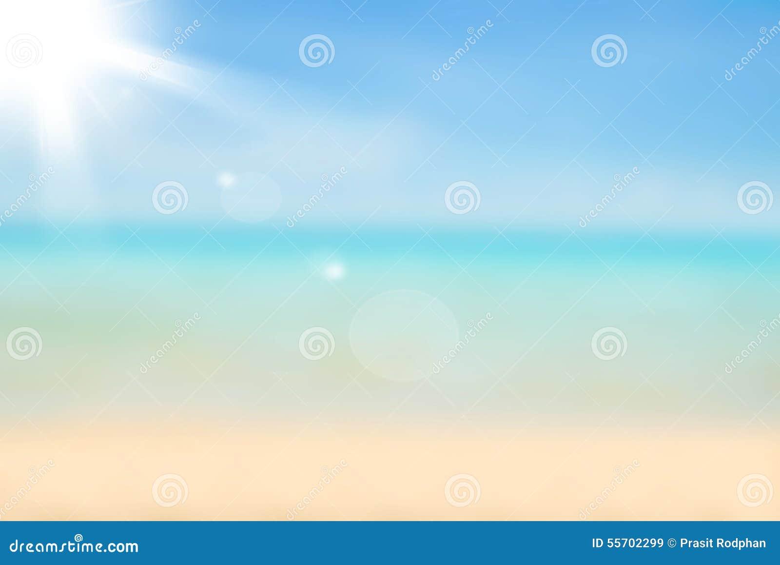Suddig naturbakgrund Bakgrund för sandig strand med turkos