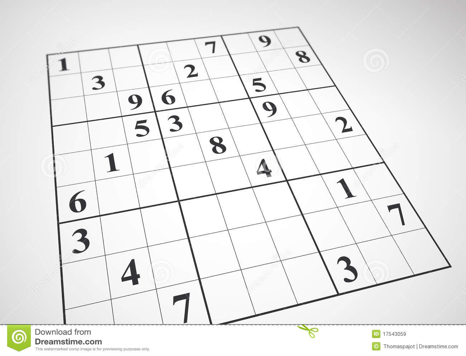 Sudoku stock illustration  Illustration of logic