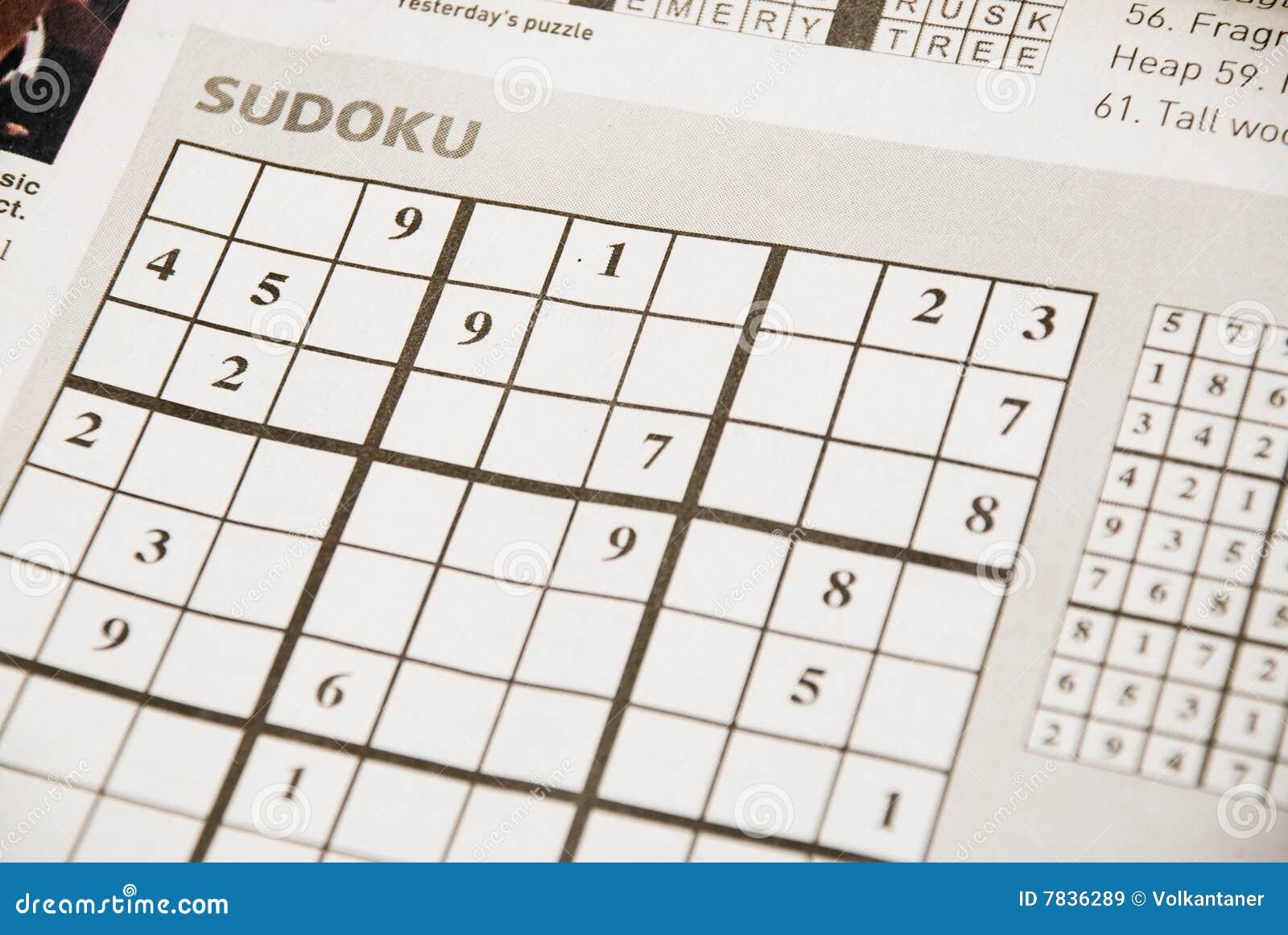 Sudoku Stock Image Image Of Maze Logic Brain Hobby 7836289