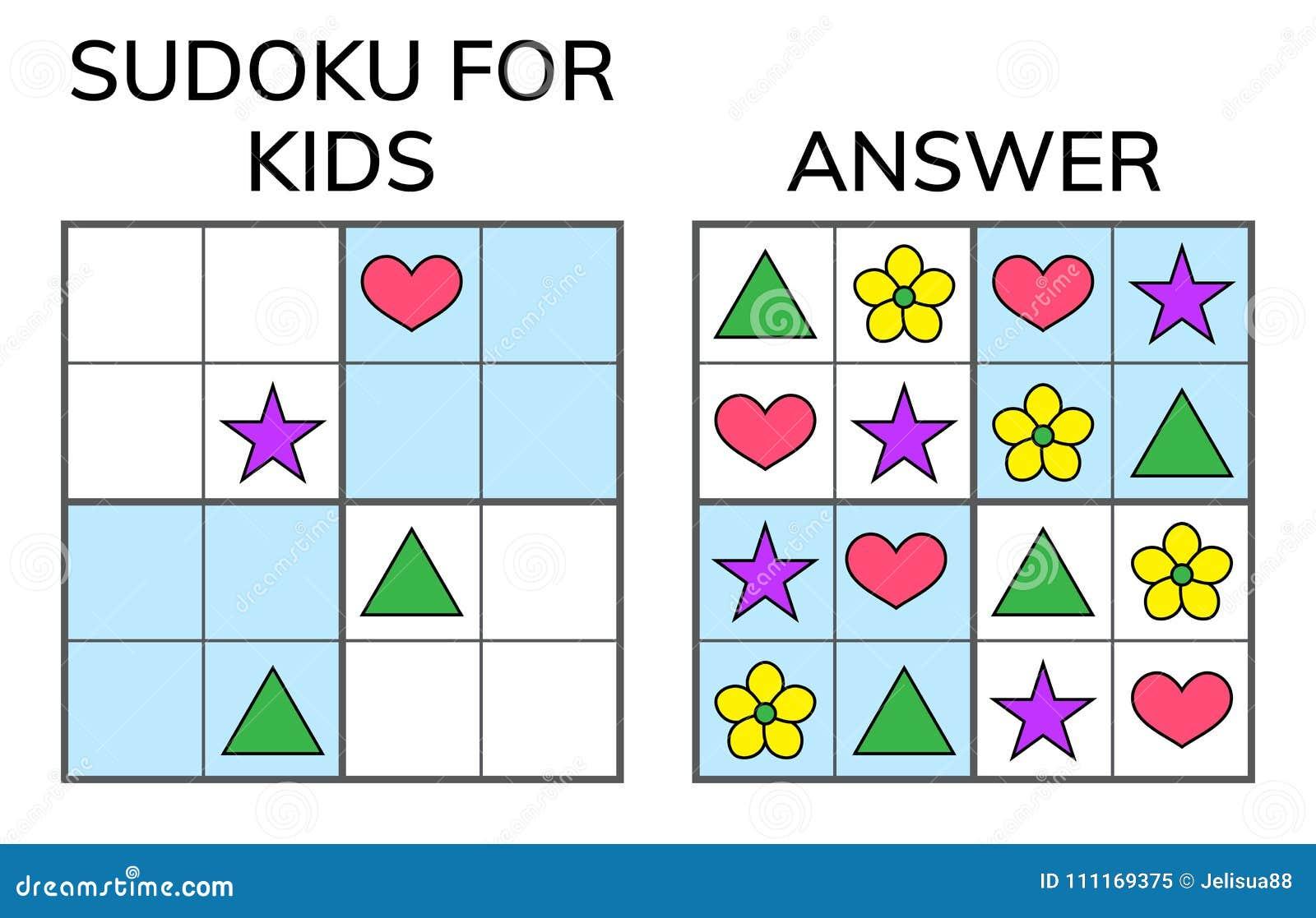 Sudoku Ungar och vuxen matematisk mosaik magisk fyrkant logik