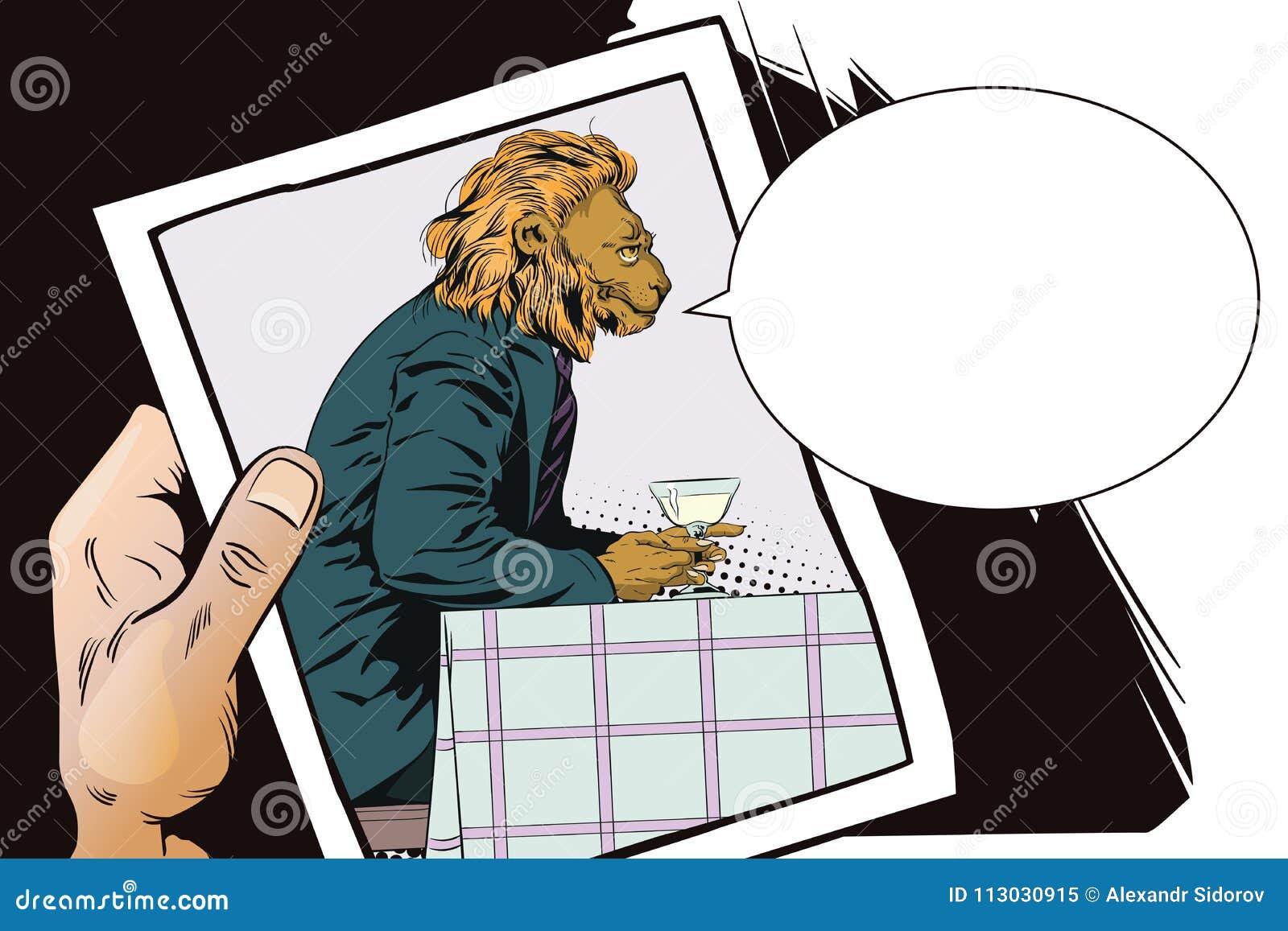 Sueño del hombre León romántico Gente en imágenes de animales