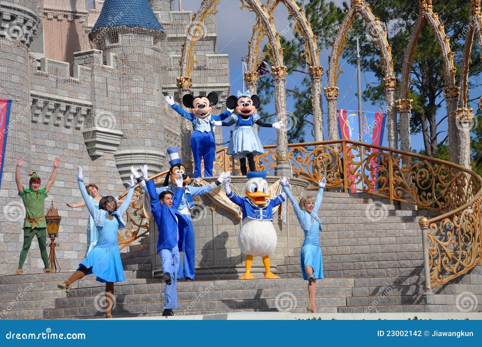 Sueño junto con la demostración de Mickey en el mundo de Disney
