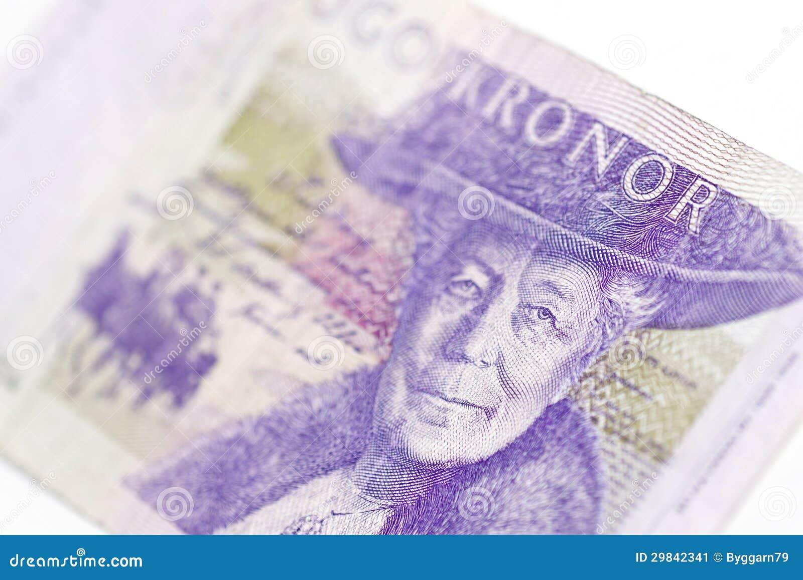 Sueco conta de vinte kronor
