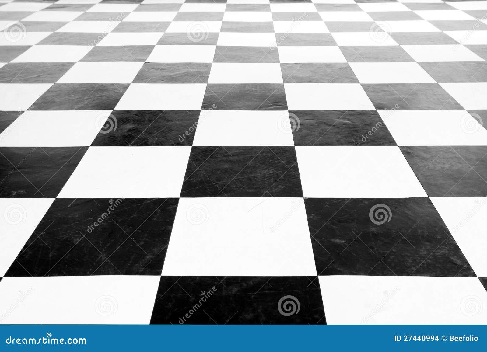 Suelo blanco y negro cuadrado de la vendimia imagenes de for Suelo 3d blanco