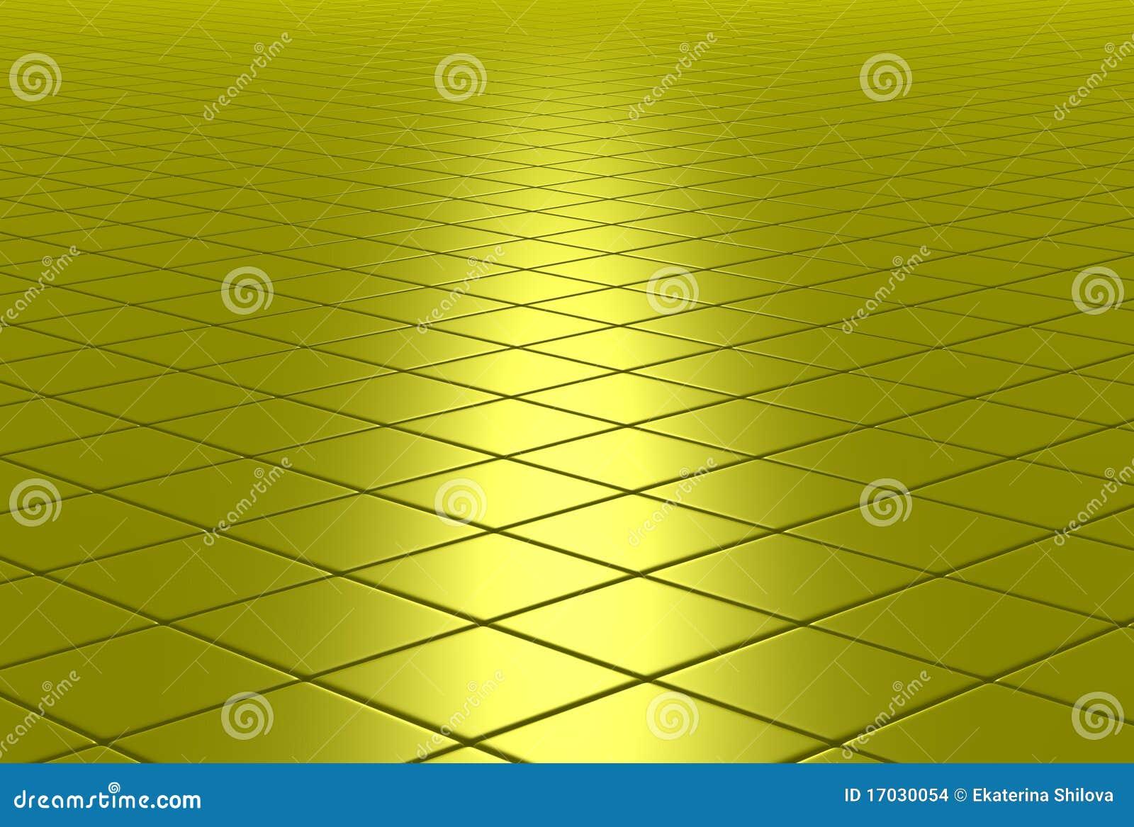Suelo embaldosado brillante del oro stock de ilustraci n for Suelo negro brillante