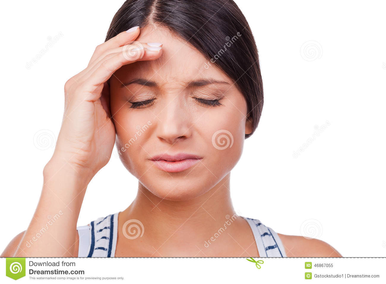 Suffering From Migraine. Stock Photo - Image: 46867055