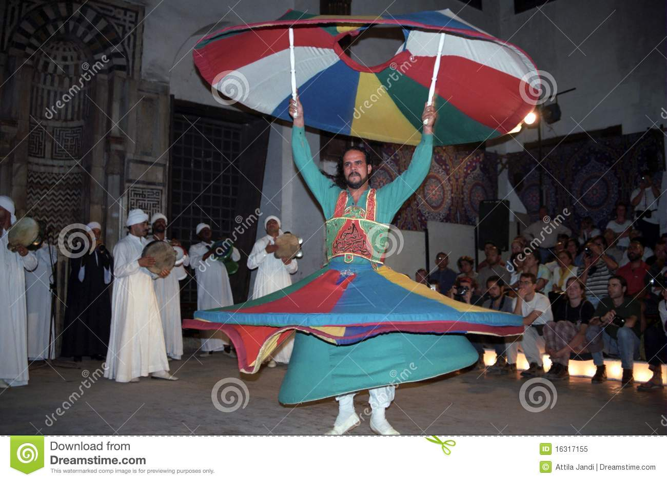 sufi whirling dervish cairo egypt editorial image