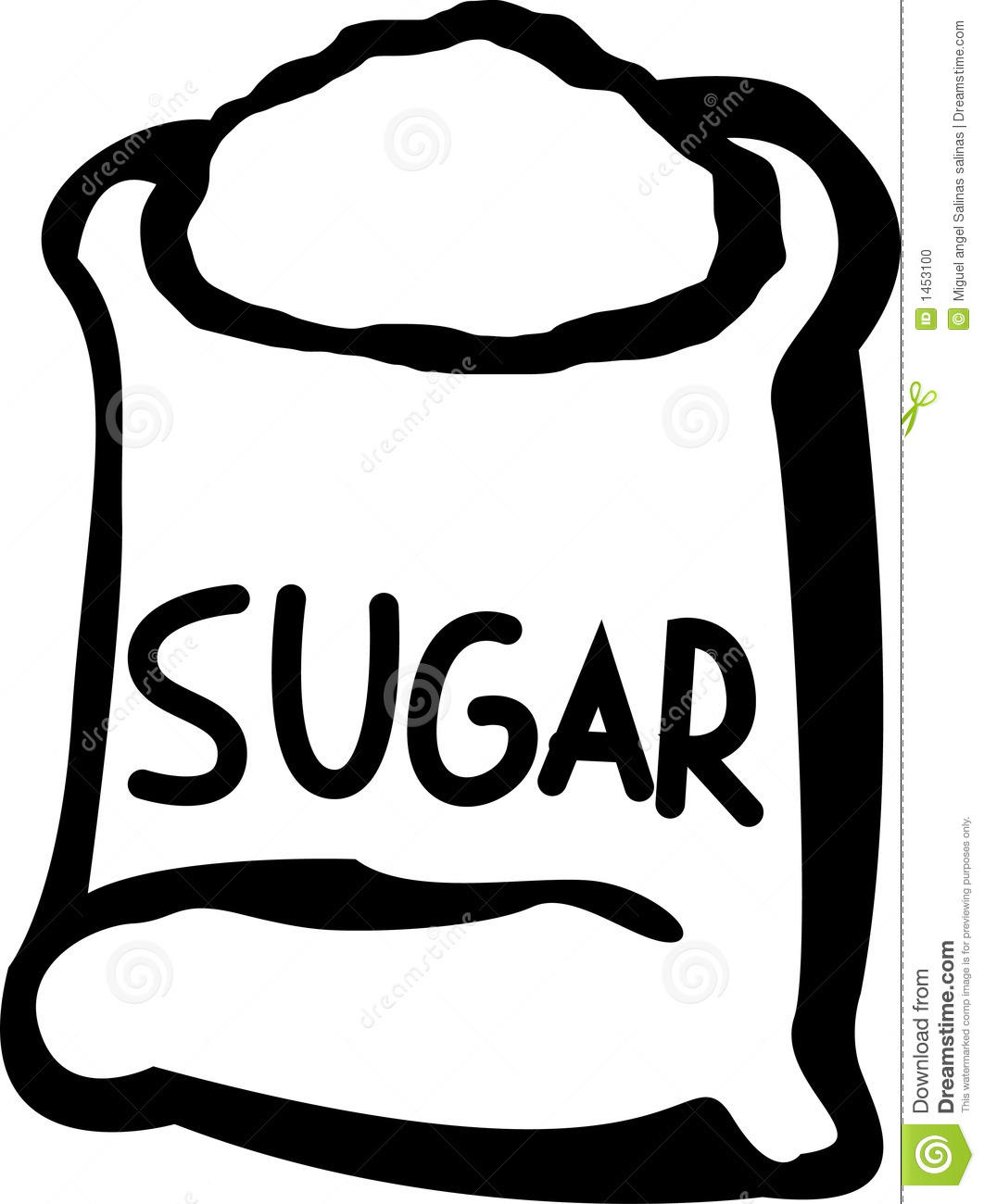 Sugar Bag Vector Illustration Stock Photo - Image: 1453100