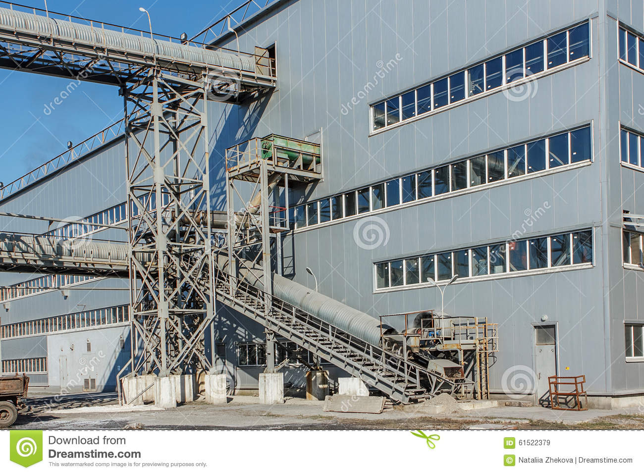 Sugar beet factory industrial building stock photo for Production builder