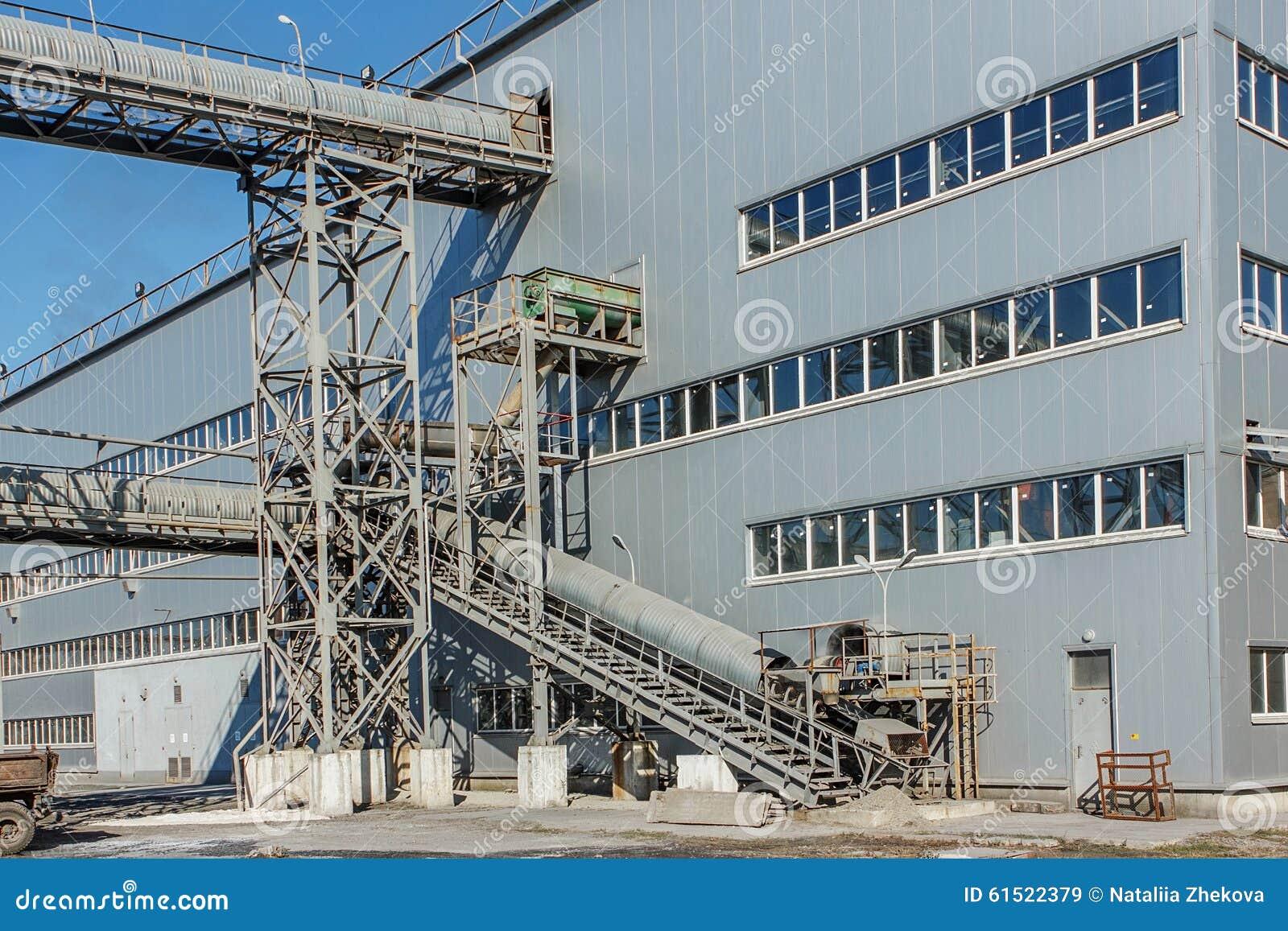 Sugar Beet Factory Industrial Building Stock Photo