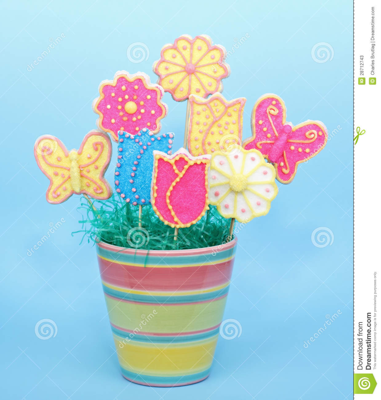 Sugar Cookie Bouquet stock image. Image of sugar, spring - 28712743