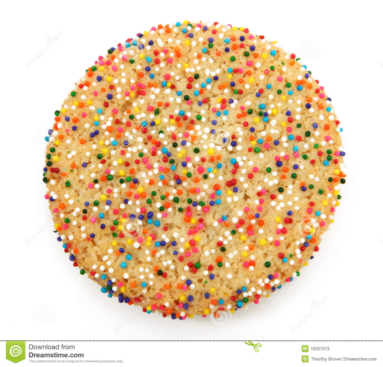 Sugar Cookie With Sprinkles Stock Photos - Image: 16327513