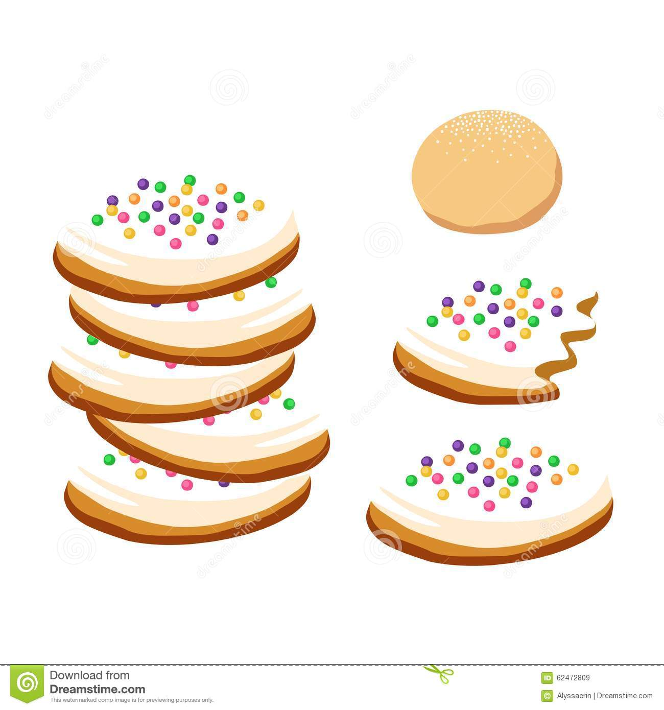 sugar cookies with sprinkles stock vector illustration of dough rh dreamstime com Chocolate Chip Clip Art Chocolate Chip Clip Art