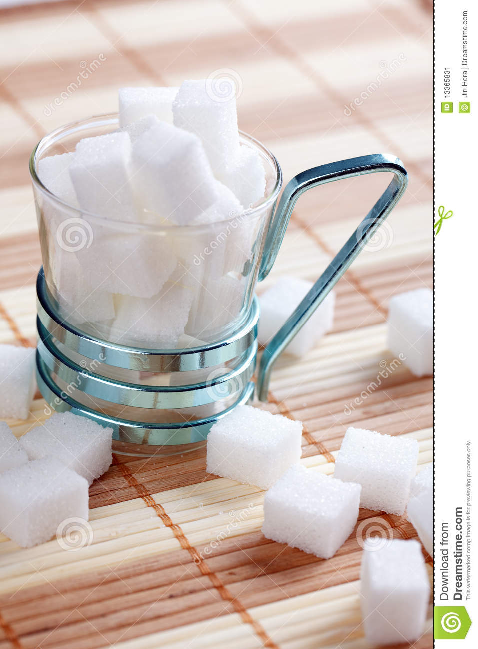 Sugar Cube In Cup Stock Image Image 13365831