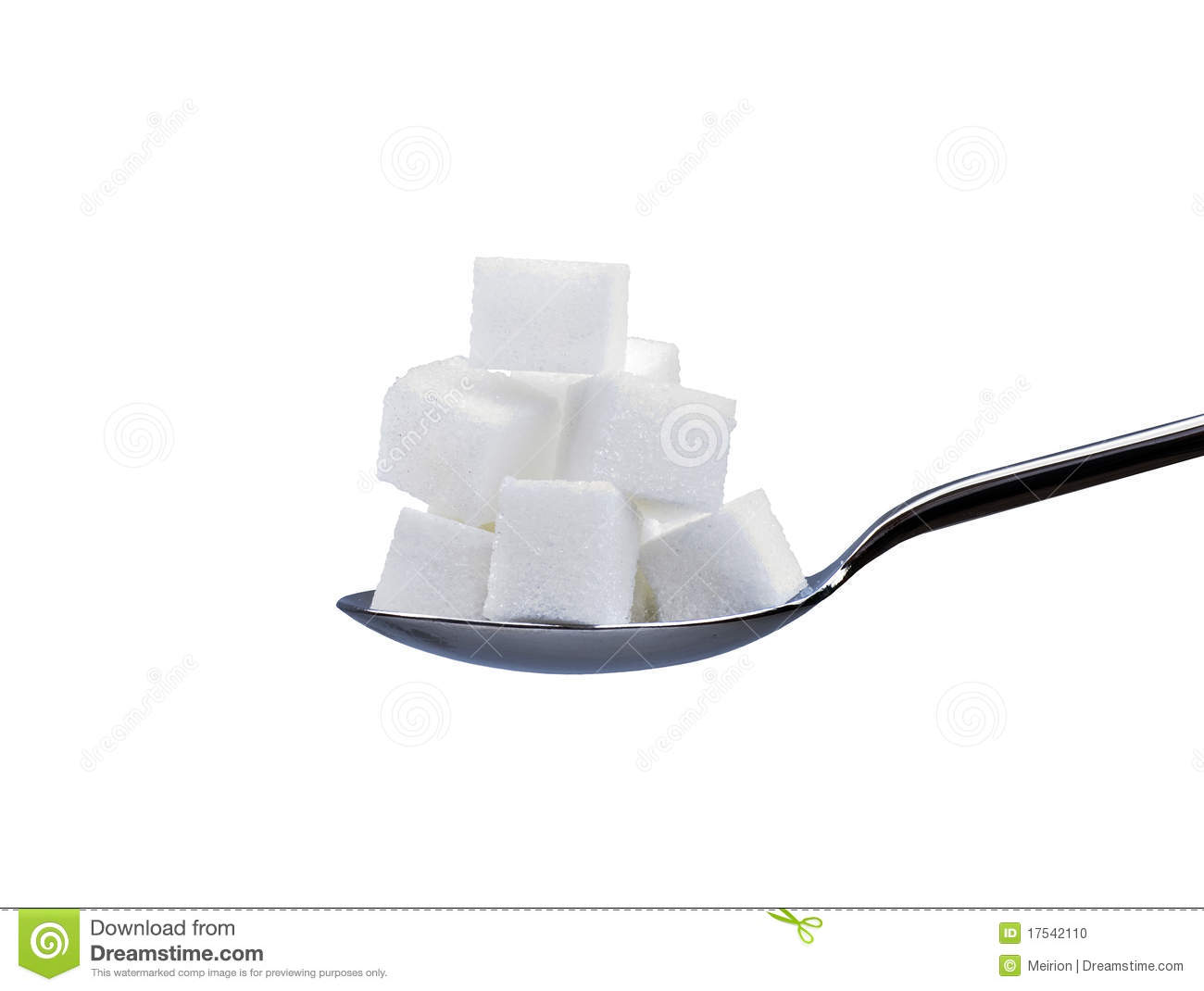 Sugar Cubes On Spoon Stock Photo - Image: 17542110