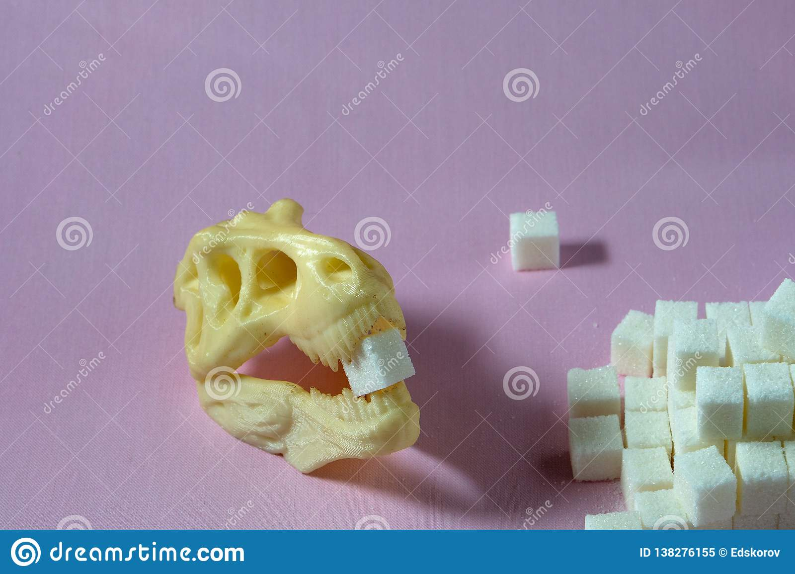 Sugar and dinosaur skull harmful to health