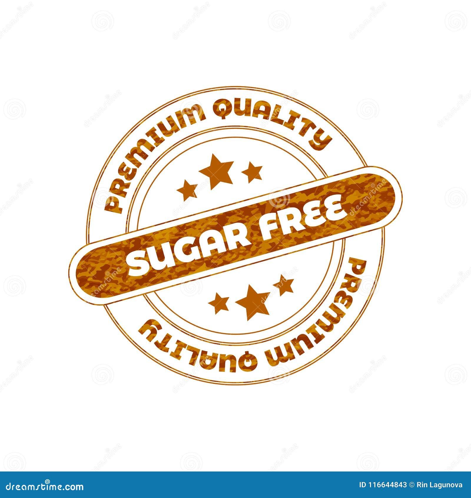 Sugar Free Vector Stamp.