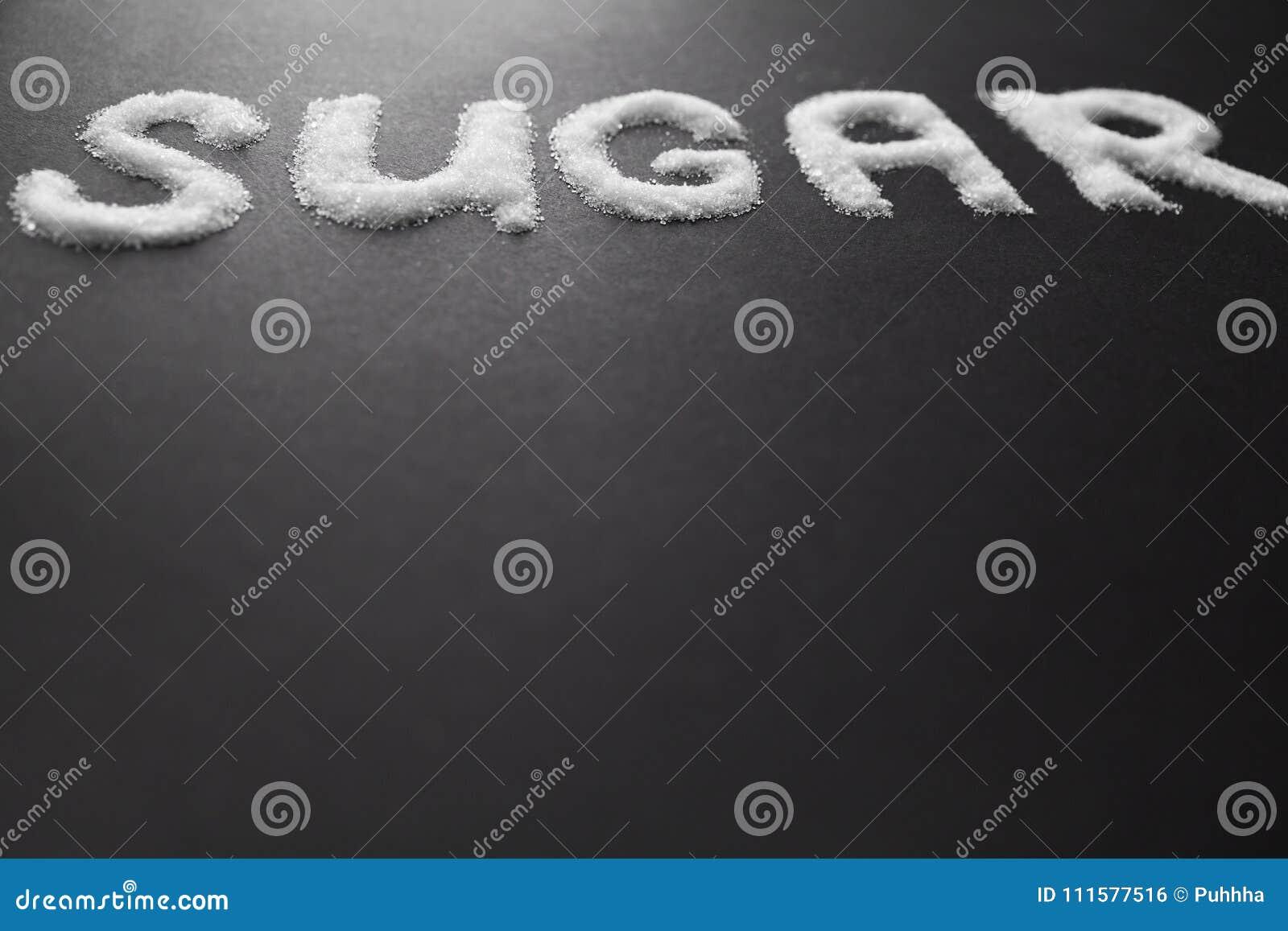 Sugar Inscription On Table branco