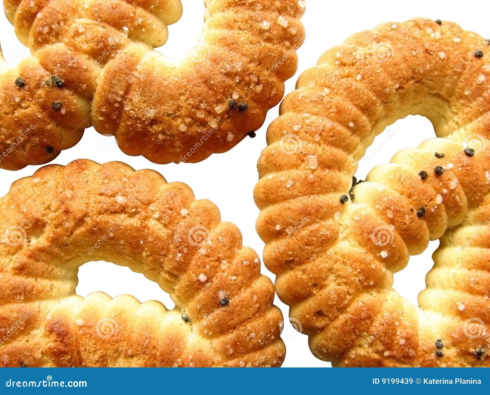 Sugar pretzel.Tasty Russian pretzel.
