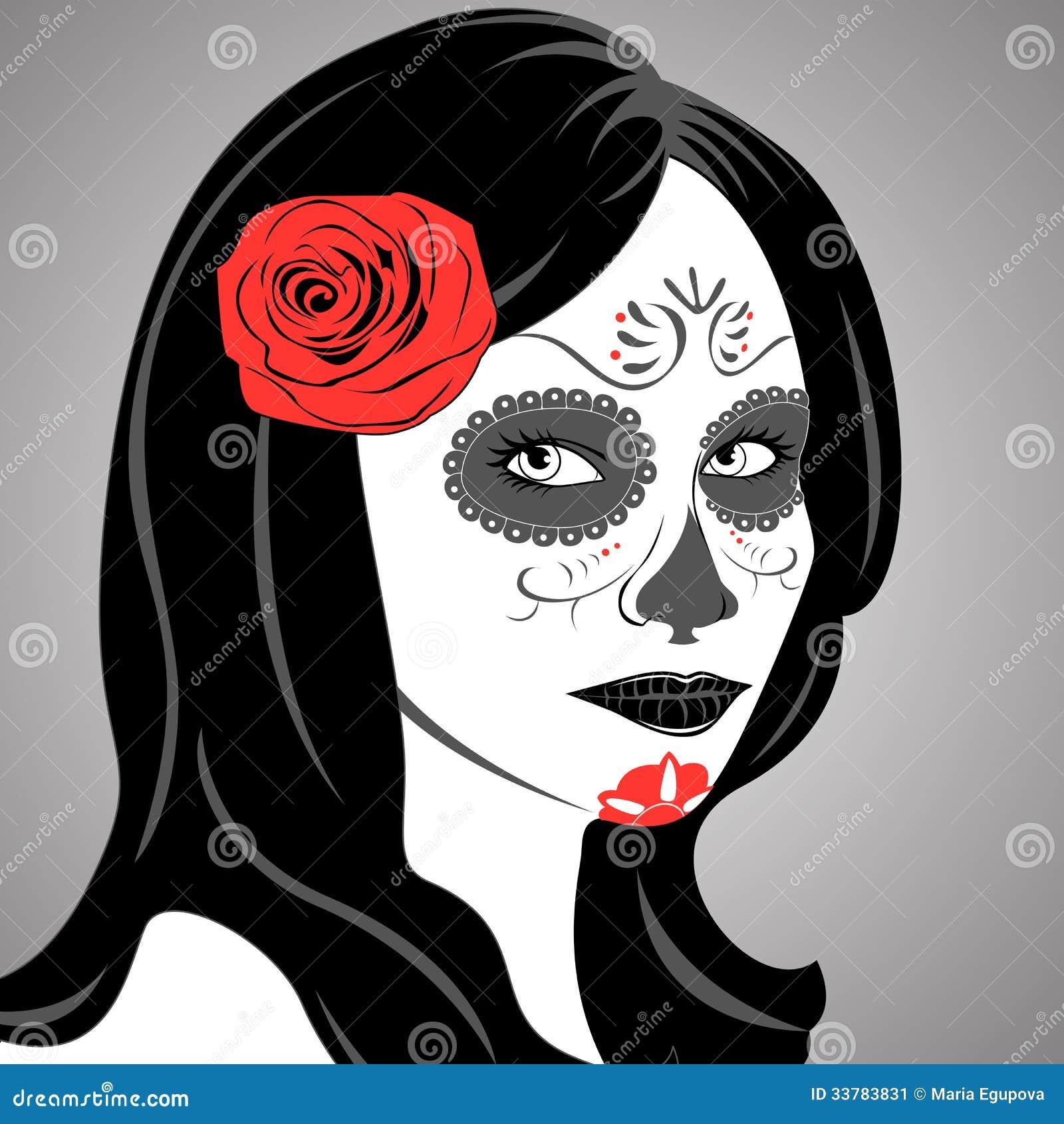 Sugar Skull Lady Stock Image Image 33783831