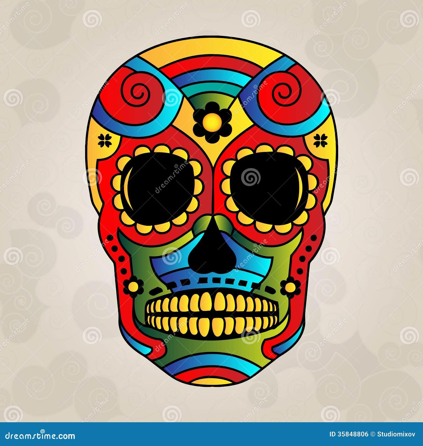 sugar skull mexico day of dead vector illustrat stock vector