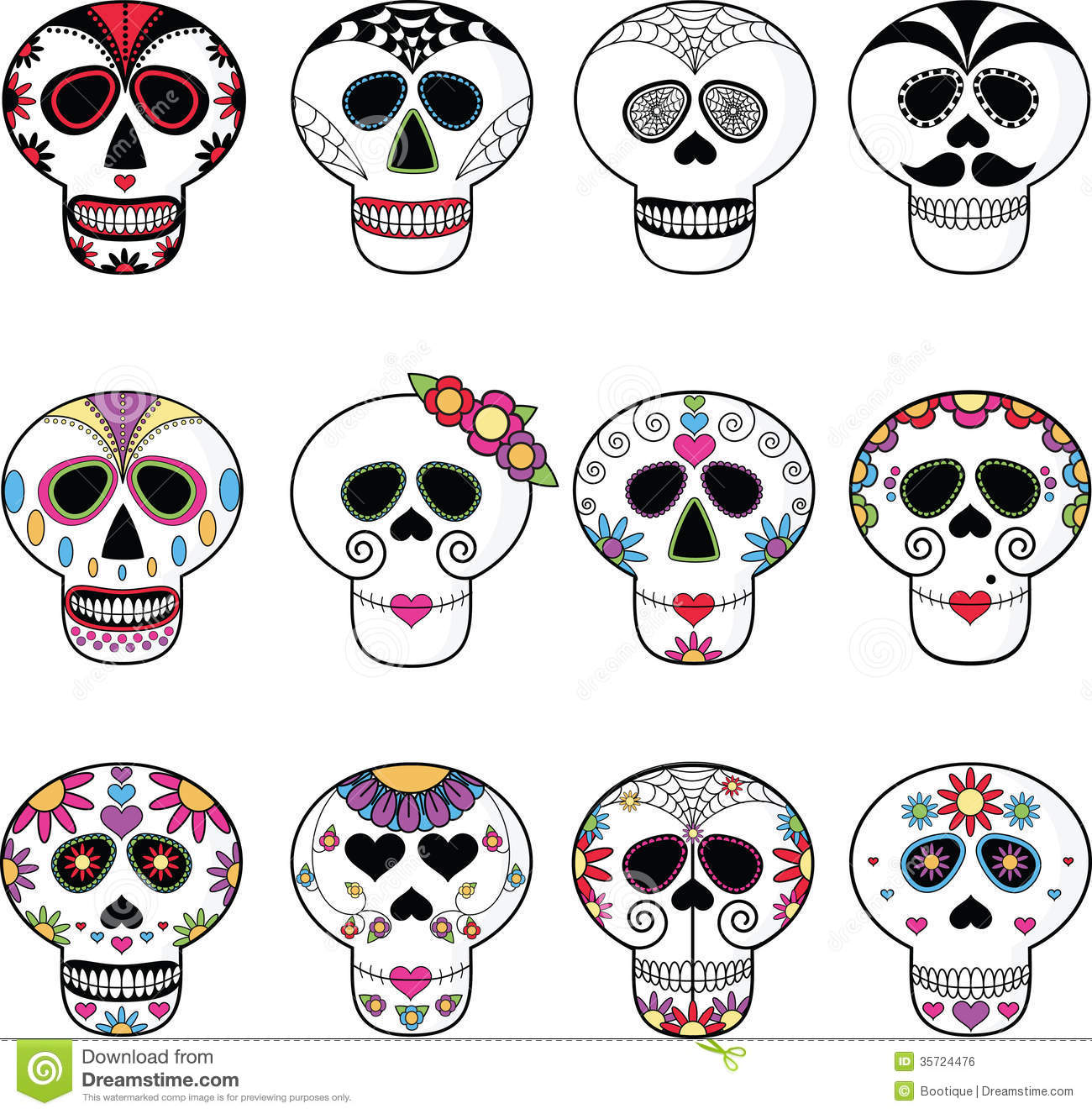 Sugar Skulls Candy Day Dead