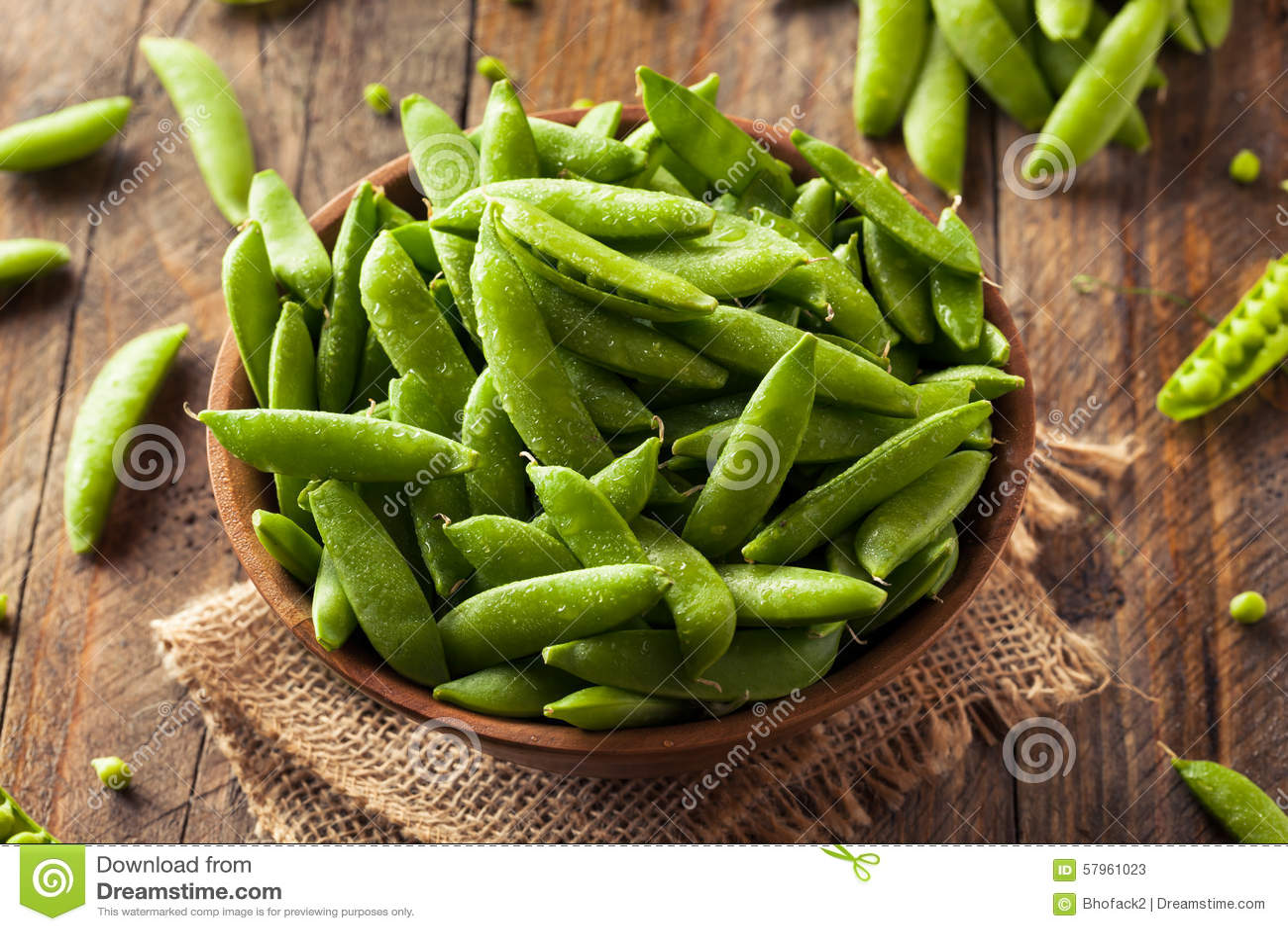 Sugar Snap Peas verde orgânico