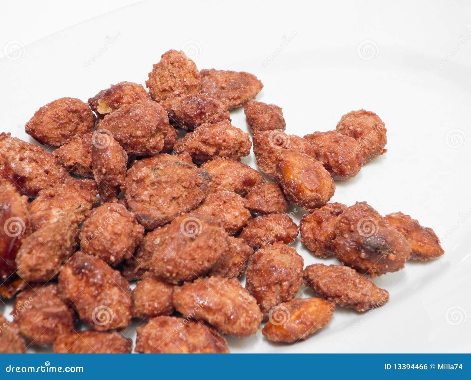 Sugared almonds.