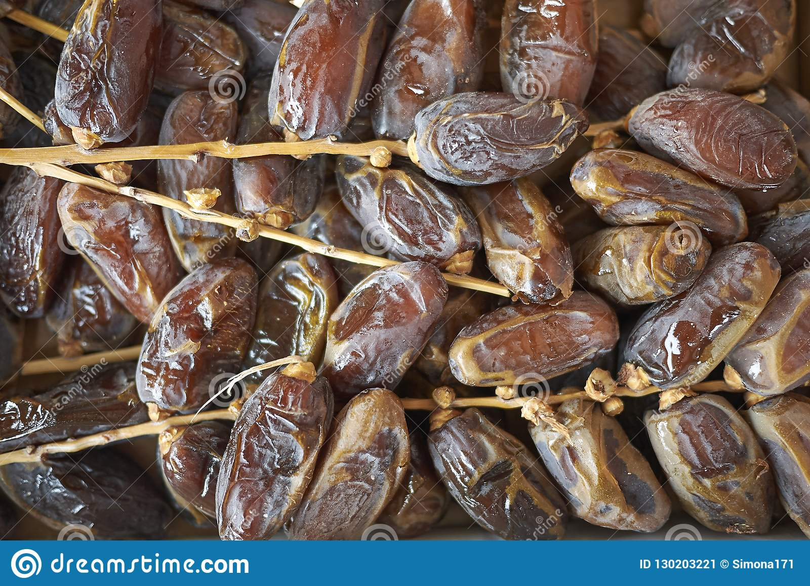 Sugared dates on a tray