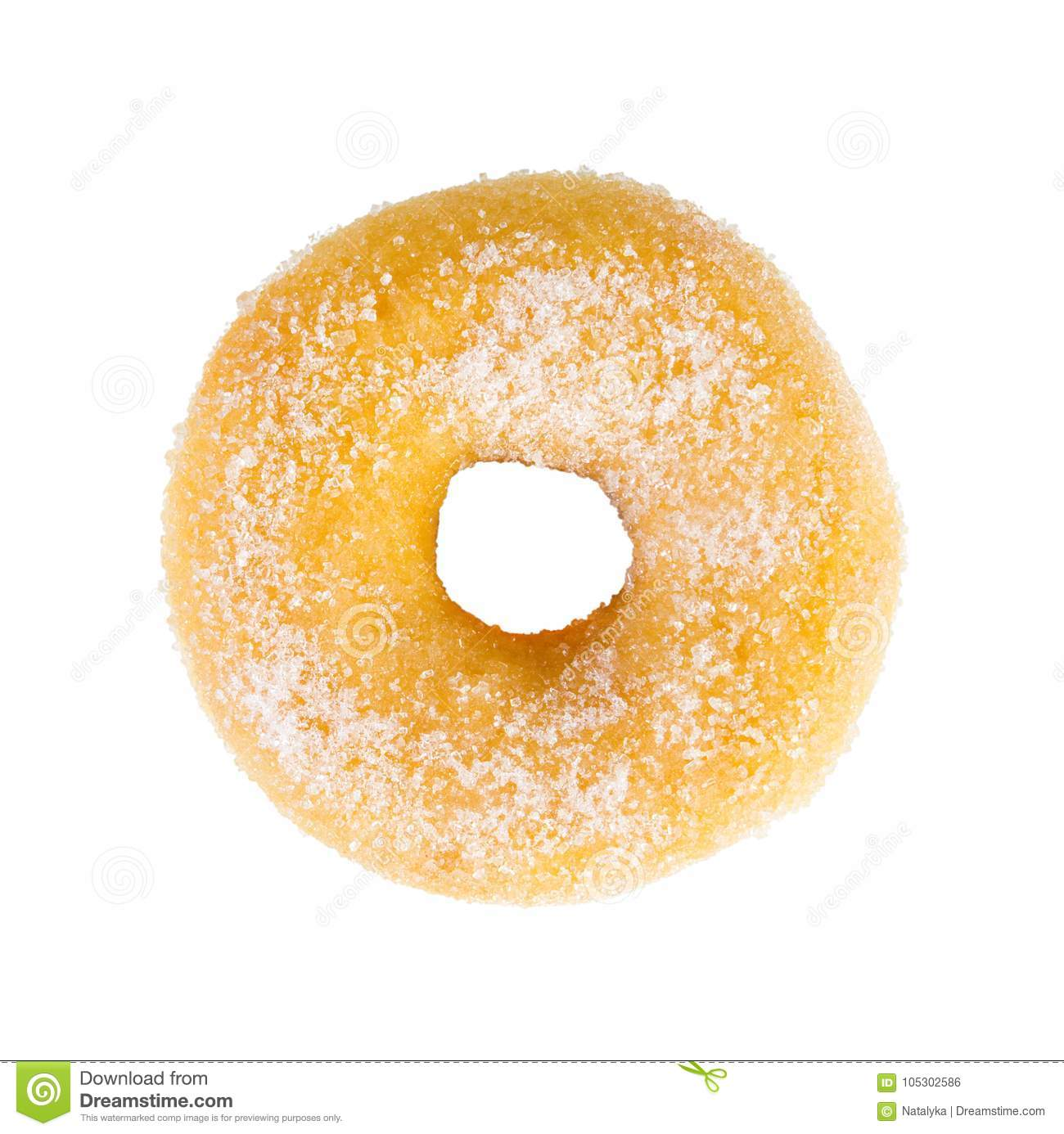 Sugared sweet donut