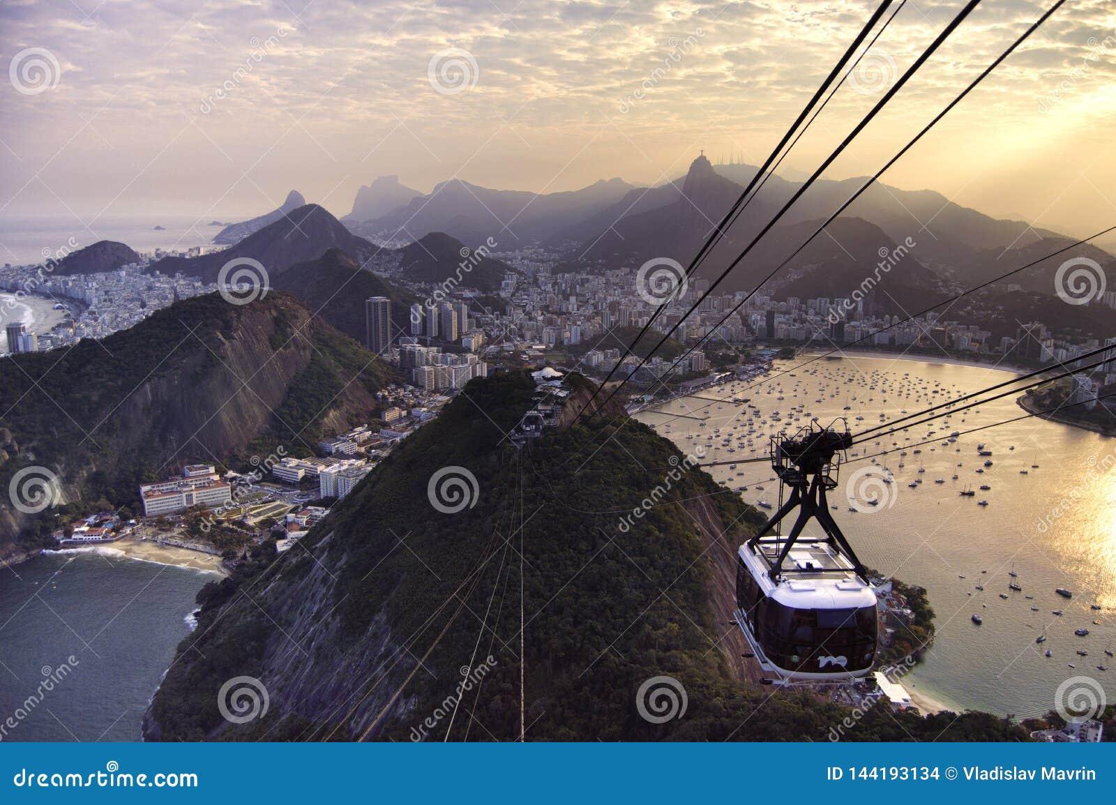 Sugarloaf Cable Car at sunset