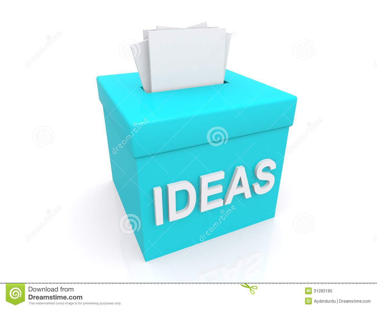 Suggestions In Ideas Box Royalty Free Stock Photo Image