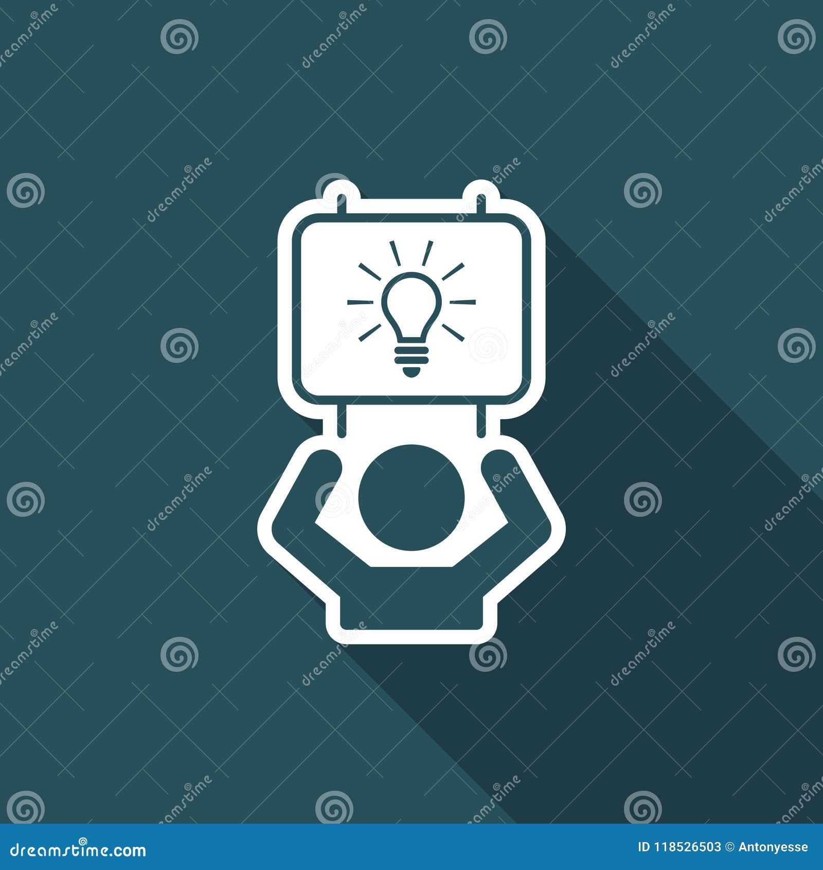 Sugira a ideia inteligente - ícone da Web do vetor