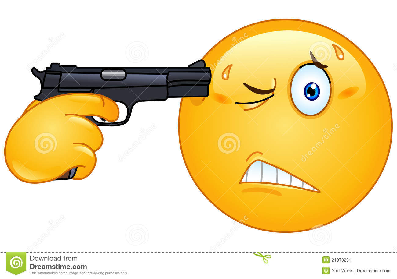 Emoticon Gun to Head http://www.dreamstime.com/stock-image-suicide-emoticon-image21378281