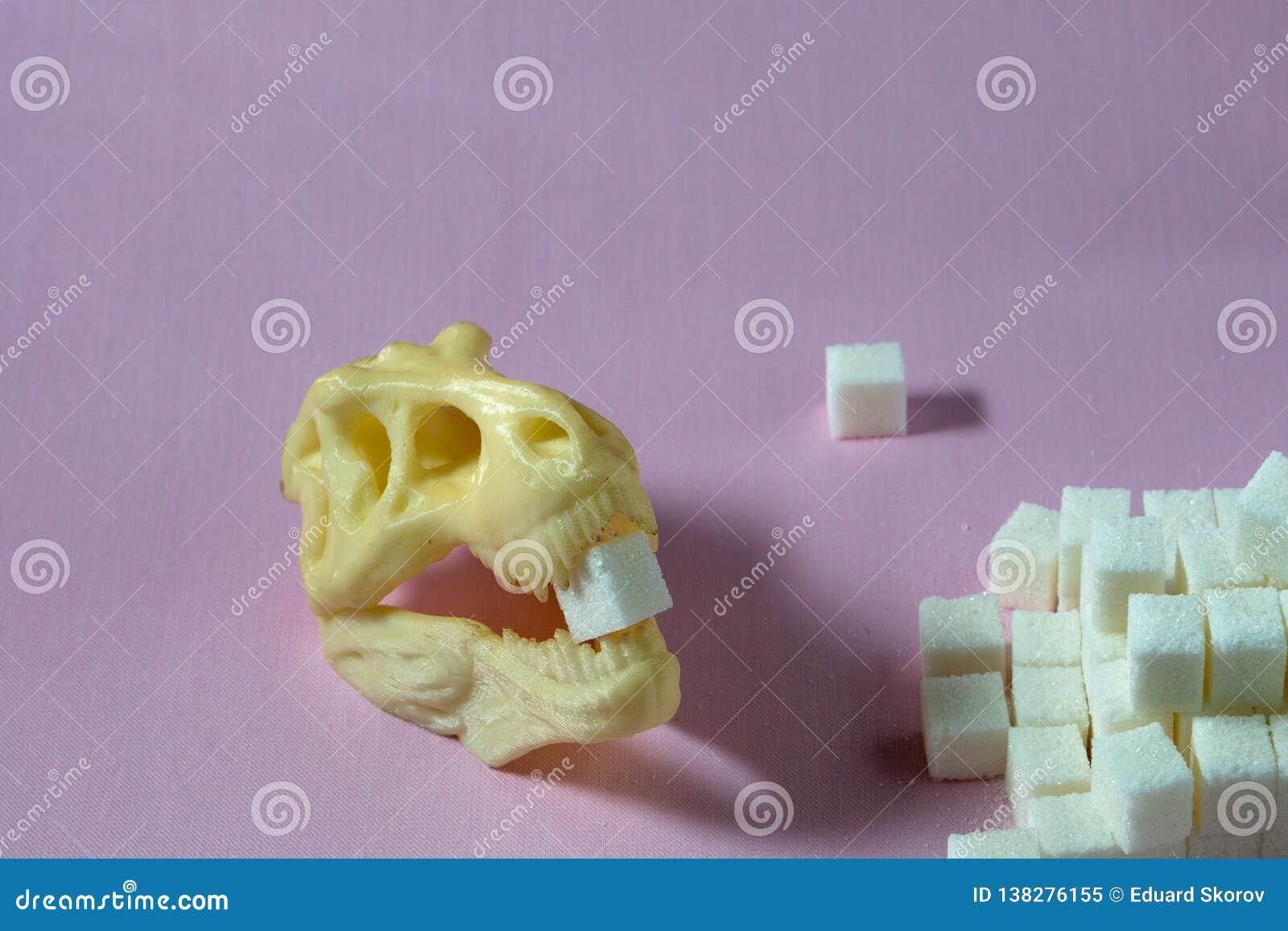 Suiker en dinosaurusschedel schadelijk voor gezondheid