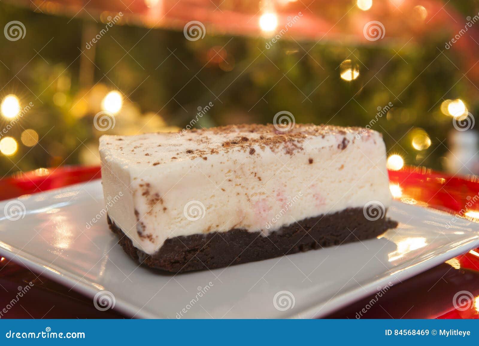 Suikergoedriet en Brownie Ice Cream Cake